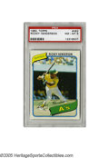 Baseball Cards:Singles (1970-Now), 1980 Topps Rickey Henderson #482 PSA NM/MT 8. High grade 1980 ToppsRickey Henderson rookie card of the all-time stolen base...