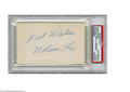 "Autographs:Index Cards, Nelson Fox Signed Index Card. A perfect blue ink inscription reads""Best Wishes Nelson Fox"" from the Chicago White Sox Hall..."