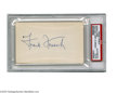 Autographs:Index Cards, Frank Frisch Signed Index Card. A perfect blue ink signature fromthe New York Giant and St. Louis Cardinal Hall of Famer. B...