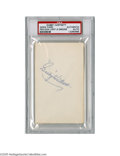 Autographs:Index Cards, Gabby Hartnett Signed Index Card. A perfect blue ink signature fromHall of Famer and Chicago Cub great Gabby Hartnett. Bla...