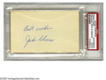 Autographs:Index Cards, Jackie Robinson Signed Index Card. The Martin Luther King, Jr. of Major League Baseball. Perfect blue ink signature is on th...