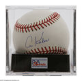 Autographs:Baseballs, Al Kaline Single Signed Baseball, PSA 9.5. Exceptional blue inksweet spot signature rates a perfect 10, while OML ball rate...