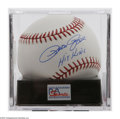 Autographs:Baseballs, Pete Rose Single Signed Baseball, PSA 10. Exceptional blue inksweet spot signature rates a perfect 10, while OML ball rates...