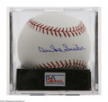 Autographs:Baseballs, Duke Snider Single Signed Baseball, PSA 9.5. Exceptional blue inksweet spot signature rates a perfect 10, while OML ball ra...