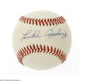 Autographs:Baseballs, Luke Appling Single Signed Baseball. OAL (Brown) baseball offers9/10 blue ink sweet spot signature from the Hall of Fame Ch...