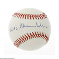 Autographs:Baseballs, A.B. Chandler Single Signed Ball. ONL (Giamatti) baseball offers10/10 blue ink sweet spot signature from the former basebal...