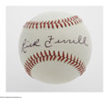 Autographs:Baseballs, Rick Ferrell Single Signed Baseball. OAL (Brown) baseball offers10/10 black ink sweet spot signature from the Hall of Famer...