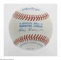 Autographs:Baseballs, Charlie Gehringer Single Signed Baseball. OAL (Brown) baseballoffers 10/10 blue ink sweet spot signature from the Detroit T...