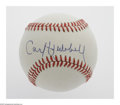 Autographs:Baseballs, Carl Hubbell Single Signed Baseball. ONL (Giamatti) baseball offers10/10 blue ink sweet spot signature from the New York Gi...