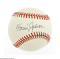 Autographs:Baseballs, Travis Jackson Signed Baseball. ONL (Feeney) baseball offersperfect dark ink sweet spot signature from the New York Giants ...