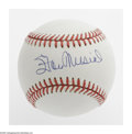Autographs:Baseballs, Stan Musial Single Signed Baseball. ONL (Giamatti) baseball offers10/10 blue ink sweet spot signature from the slugging St....