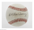 Autographs:Baseballs, Bill Terry Single Signed Baseball. ONL (Giamatti) baseball offers10/10 black ink sweet spot signature from the New York Gia...