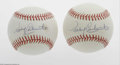 Autographs:Baseballs, Rocky Colavito Single Signed Baseball Lot of 2. OAL (Brown)baseballs offers 10/10 blue ink sweet spot signature from the sl...(2 Items)