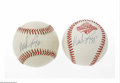 Autographs:Baseballs, Wade Boggs Single Signed Baseball Lot of 2. Two Wade Boggs singlesigned baseballs, OAL (Brown) and Official 1996 World Seri...