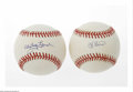 Autographs:Baseballs, New York Yankees Single Signed Baseballs Lot of 2. Sweet spotsignatures from Hall of Famers Whitey Ford and Yogi Berra on O...