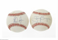 Autographs:Baseballs, Nolan Ryan And Tony Gwynn Single Signed Baseballs. Sweet spotsignatures from Hall of Famers Nolan Ryan on OAL (Brown) ball ...