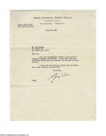 Autographs:Letters, George Weiss Signed Letter. July 18, 1940 black ink signed typedletter by New York Yankees Vice President George Weiss. Let...