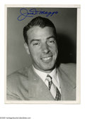 Autographs:Photos, Joe DiMaggio Signed Photograph. Classic 8x10 black and white image of the Yankee Clipper signed in perfect blue sharpie with...