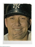 Autographs:Photos, Mickey Mantle Signed Magazine Photograph. Classic close up image ofthe Mick is signed in 10/10 ink. Full page color image m...