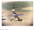 Autographs:Photos, Mickey Mantle Signed Photograph. Perfect blue sharpie Mantlesignature finds a home on this classic 8x10 color photograph.