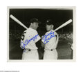 Autographs:Photos, Joe DiMaggio & Mickey Mantle Signed Photograph. Classic 8x10image of New York Yankees greats Joe DiMaggio and Mickey Mantle...