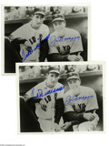 Autographs:Photos, Ted Williams & Joe DiMaggio Signed Photographs Lot of 2. Twoimpressive 8x10 images of the Yankee Clipper and the Splendid S...