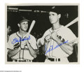 Autographs:Photos, Stan Musial & Ted Williams Signed Photograph. Impressive 8x10black and white image of slugging greats Stan Musial and Ted W...