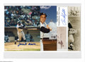 Autographs:Photos, Signed Baseball Photographs Lot of 4. Excellent 8x10 signed photos of funnyman Bob Uecker and Baseball Hall of Famers Yogi B...