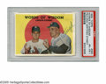 Autographs:Sports Cards, 1959 Topps Words Of Wisdom Larsen-Stengel #383 PSA PR-FR 1, Signed from the Casey Stengel Collection. Casey Stengel 10/10 b...