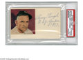 Autographs:Index Cards, 1953 Casey Stengel Signed Index Card from the Casey StengelCollection Impressive 3x5 Casey Stengel index card signed in 10/...