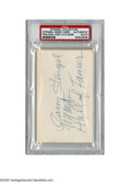 Autographs:Index Cards, Casey Stengel Signed Index Card from the Casey Stengel Collection.This 3x5 index card contains the autograph of the legenda...