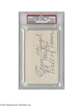 Autographs:Index Cards, Casey Stengel Signed Index Card from the Casey Stengel Collection.Impressive 3x5 index card contains the autograph of the l...