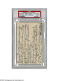 Autographs:Index Cards, Casey Stengel Personal Inscriptions from the Casey StengelCollection. Impressive 3x5 index card contains the personalinscr...