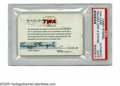 Autographs:Others, Casey Stengel TWA Ambassadors Club Card, Signed from the Casey Stengel Collection. Casey Stengel 8/10 black ink felt tip sig...