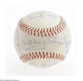 Autographs:Baseballs, 1963 New York Mets Team Signed Baseball from the Casey StengelCollection. This special ball from Casey Stengels personal co...
