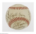 Autographs:Baseballs, 1970's Multi-Signed Baseball from the Casey Stengel Collection. ONL(Feeney) ball offers 20 signatures in 9/10 to 10/10 ink ...