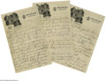 Autographs:Letters, 1930's Casey Stengel Signed Letter To His Mother from the CaseyStengel Collection. Personal three-page letter to his mother...