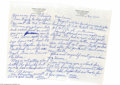 Autographs:Letters, Casey Stengel Signed Personal Letter from the Casey StengelCollection. This impressive personal letter from Casey Stengel t...