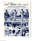 Autographs:Others, Casey Stengel Multi-Signed Old Timers Day Program from the CaseyStengel Collection. August 8, 1970 Old Timers Day program i...