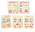 Autographs:Others, Mulit-Signed Baseball Hall Of Fame Memories Sheets from the Casey Stengel Collection Lot of 8. Impressive collection of eigh...