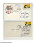 Autographs:Others, First Day Of Issue Hall Of Fame Signed Envelopes from the CaseyStengel Collection Lot of 2. Two first day of issue autograp...