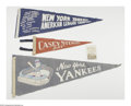 Baseball Collectibles:Others, Casey Stengel Pennants With Picture from the Casey StengelCollection Lot of 4. This impressive collection of Casey Stengel...