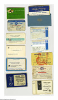 Baseball Collectibles:Others, Casey Stengel Miscellaneous Identification Cards from the CaseyStengel Collection 12 Ct. Various identification cards inclu...