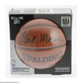 """Basketball Collectibles:Balls, Earl Monroe Signed Baseketball. Clear black sharpie signature ofEarl """"The Pearl"""" Monroe on a Spalding NBA endorsed ball. ..."""