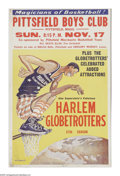 Basketball Collectibles:Others, Harlem Globetrotters Broadside. Original 14x22 colorful broadsidefrom the thirty-seventh season of the Harlem Globetrotters...