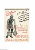 Basketball Collectibles:Programs, 1950 Harlem Globterotters Milan, Italy Program. From the personalcollection of Marques Haynes this rare 1950 program from M...