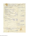 Basketball Collectibles:Others, Nat Clifton Twice Signed Statement. January 31, 1964 twice-signedblue ink payment statement in good condition by Harlem Mag...