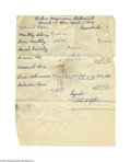 Basketball Collectibles:Others, Nat Clifton Signed Statement. April 1964 statement in good condition, signed in crisp blue ink by Harlem Magician great Nat ...