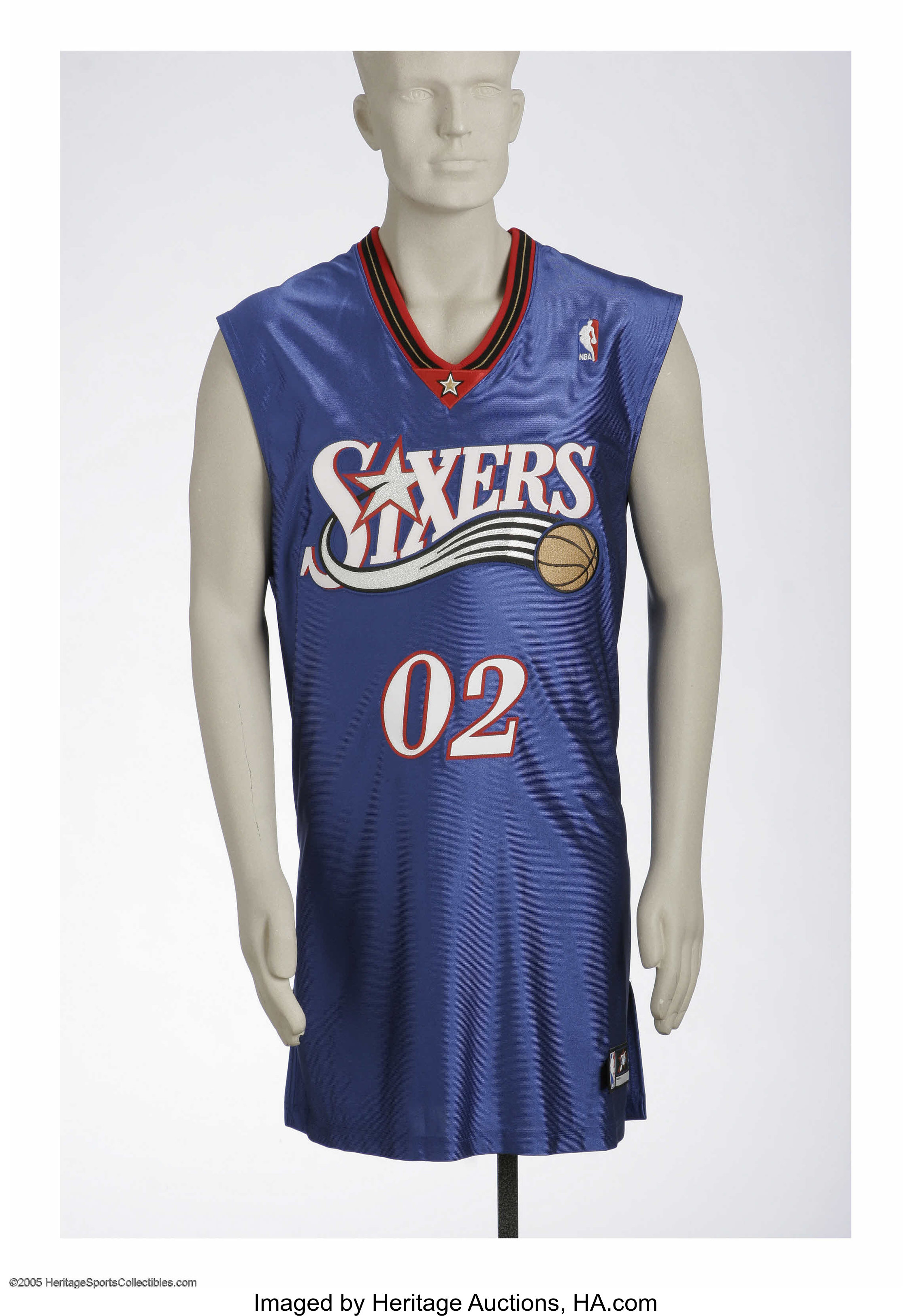 best service 984c8 8e563 Marques Haynes Honorary Philadelphia 76ers Jersey. Legendary ...
