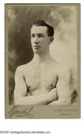 Boxing Collectibles:Memorabilia, Eddie Santry Studio Photograph. Vintage photograph in excellent condition of boxing great Eddie Santry. Back of Studio card ...